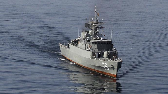 Iranian warships defy blockade by escorting Yemeni-bound cargo ship