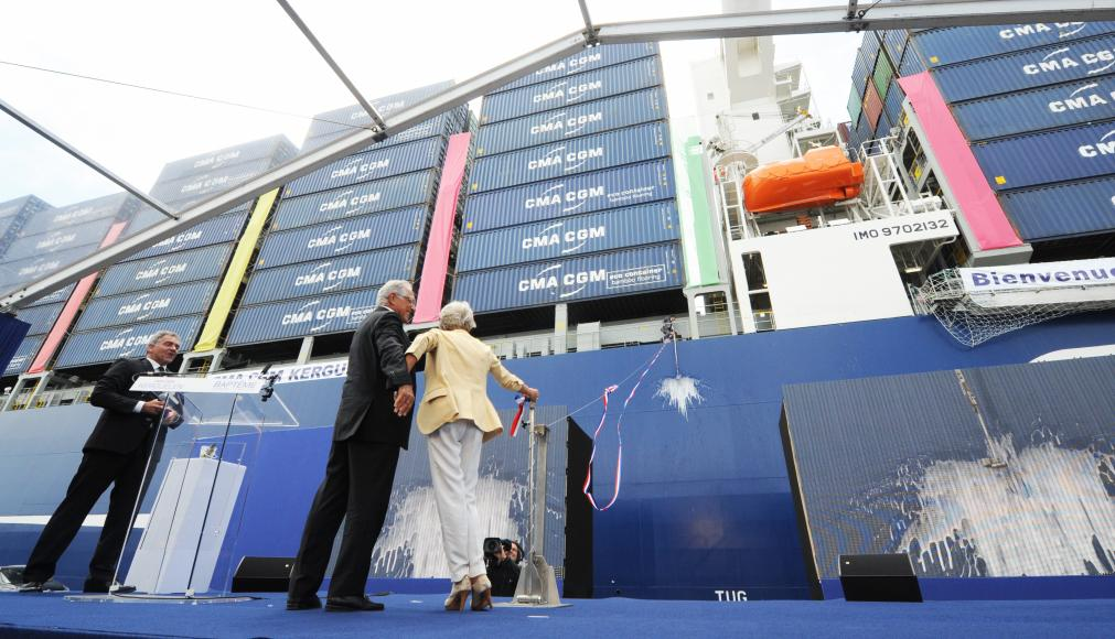 British-flagged 17,554-TEU CMA CGM Kerguelen named in top French port