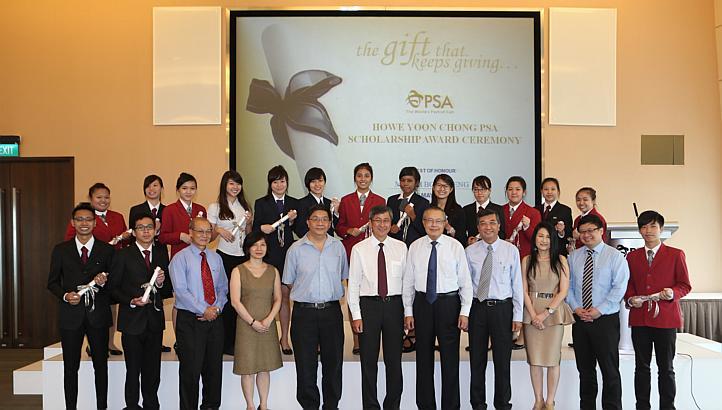 PSA International awards scholarships to poorer Singapore students