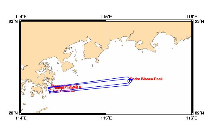 Hong Kong blocks off area east of Ninepin Islands to remove wreck at sea
