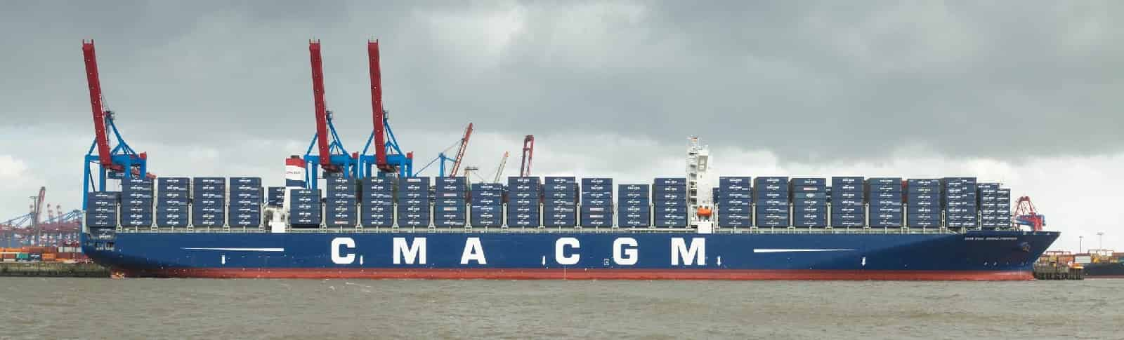 CMA CGM GEORG FORSTER, CMA CGM Group's largest vessel, christened in Hamburg