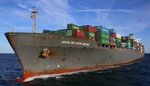 4,545-TEU Hanjin San Diego lost power off Cape Fear River