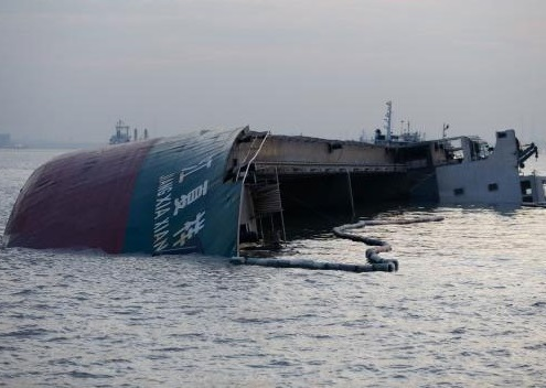 Tanker and Cargo ship collided, one sank in Shanghai