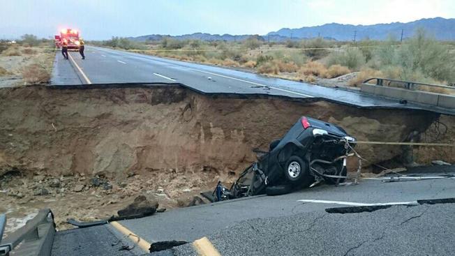 America's biggest freight highway shut by torrential rains, floods