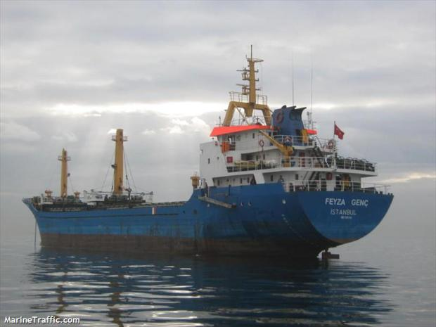 Turkish cargo ship Feyza Genç runaway from Maltese arrest