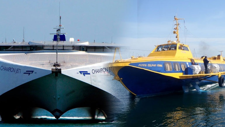 Two passenger ships collided in the port of Piraeus