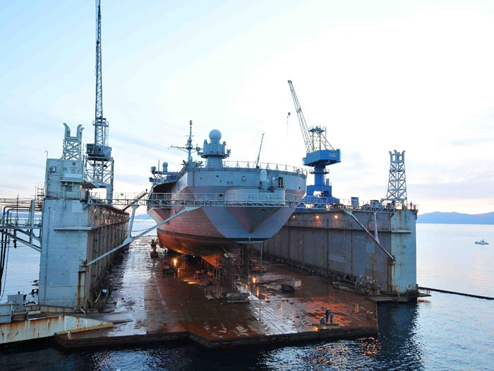 US Navy Ship 'Mount Whitney' at Croatian Shipyard Catches Fire