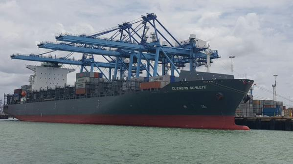 Mombasa docks its biggest ship, 5,466-TEU Clemens Schulte after dredging