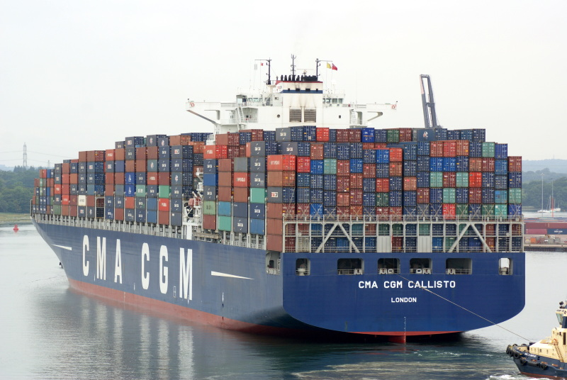 11,400-TEU CMA CGM Callis biggest ship in Puget Sound docks in Seattle