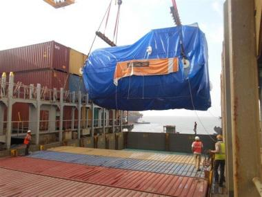 Container vessel carries heavy project cargo from Mundra to Antwerp