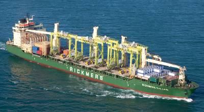 Rickmers takes in first of three 9,300-TEUers, receives historic name
