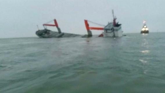 Dutch freighter Flinterstar sinks after collision off Belgian coast, 12 rescued