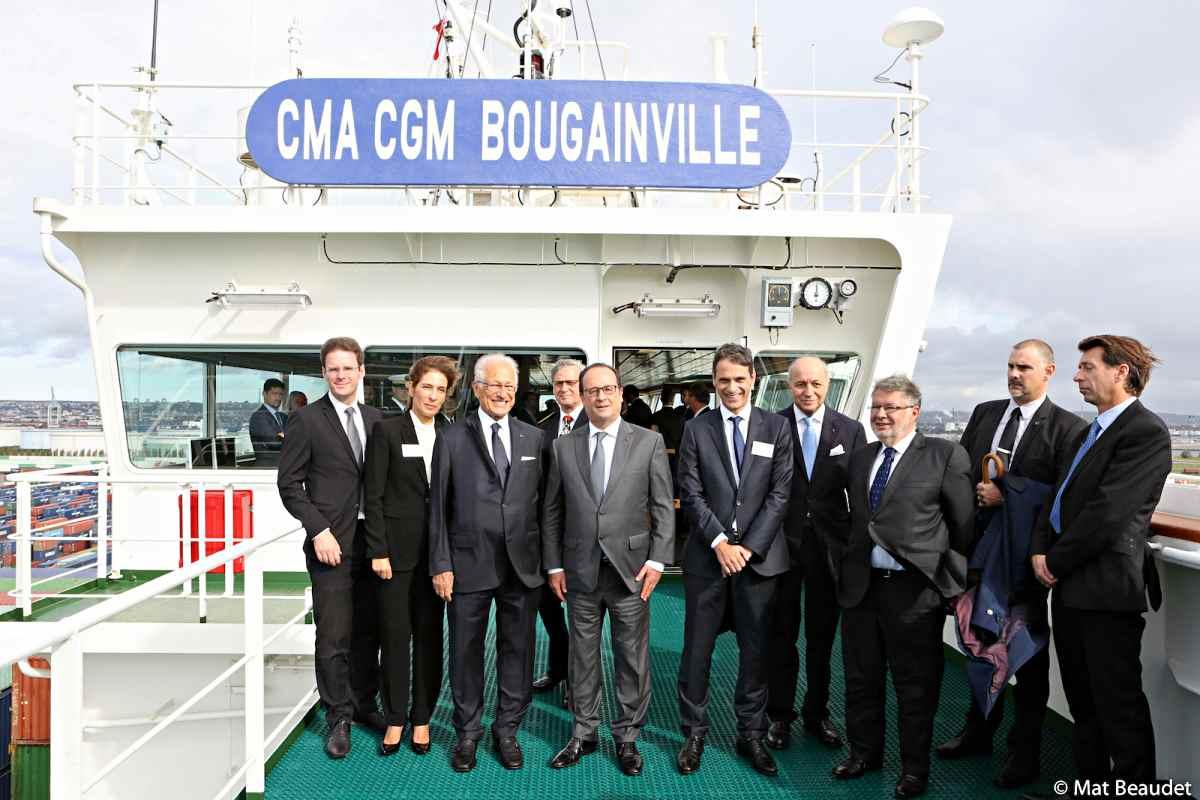 The CMA CGM BOUGAINVILLE inaugurated