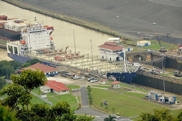 Panama Canal welcomes world's first LNG-powered box ship