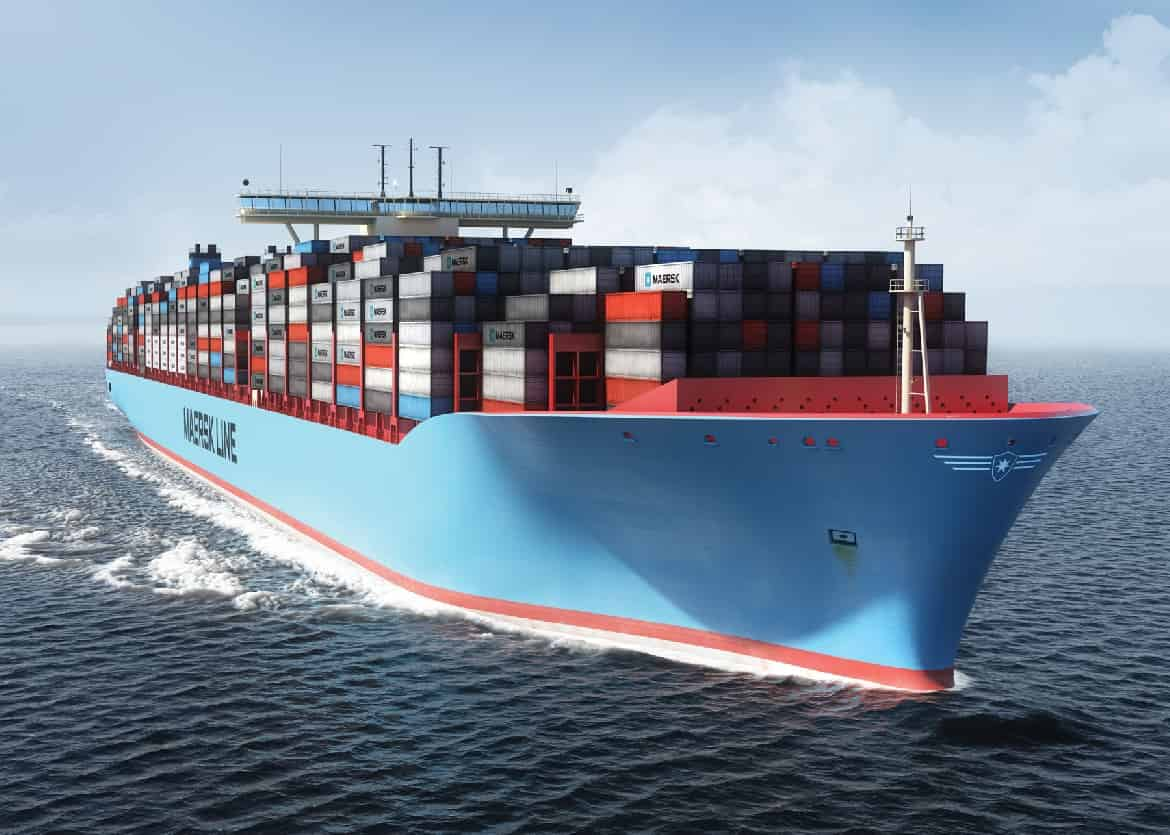 Maersk's boxships no longer the largest in the world in TEU terms