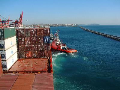 A-E rate off 50.4pc to US$275/TEU, down 4.8pc to USWC, off 4.4pc to USEC