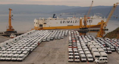 """FIAT starts to export its new favorite """"Egea"""" from Gemport Terminal, Turkey"""