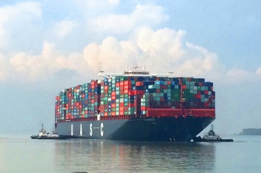 Record load: UASC's 18,800-TEUer takes on 18,601 TEU at Port Klang
