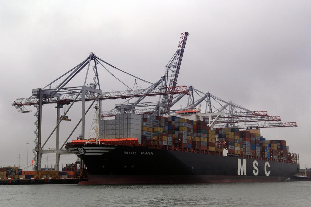 Port of Southampton docks 19,224-TEU MSC Maya, world's biggest box ship