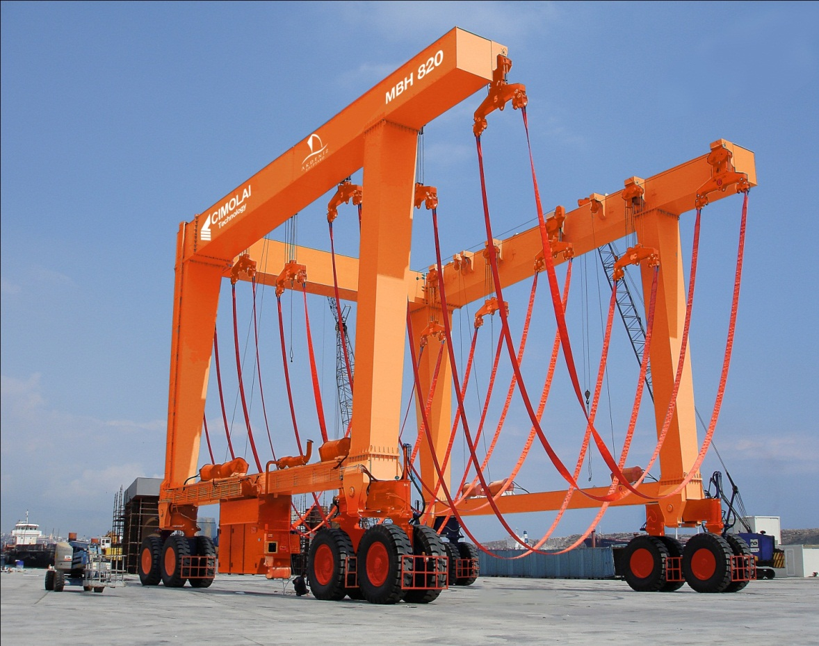 820 TONS OF NEW TRAVEL LIFT HAS BEEN DELIVERED TO TURKEY'S AKDENİZ SHIPYARD!!