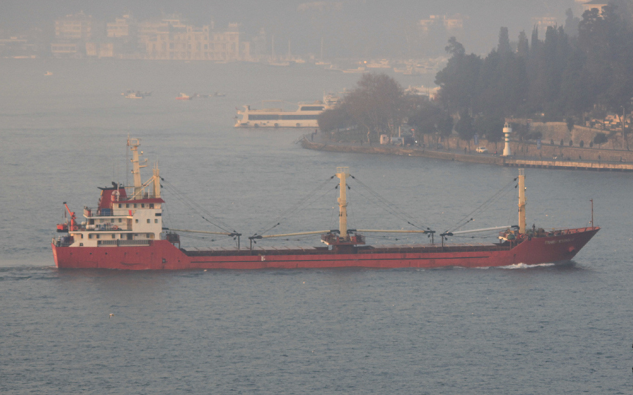 Turkish vessel Fahri Eksioglu experienced engine problem in the Strait of Istanbul