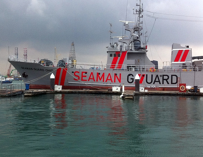 Indian court jails 25 shipboard armed guards 5 years for illegal arms
