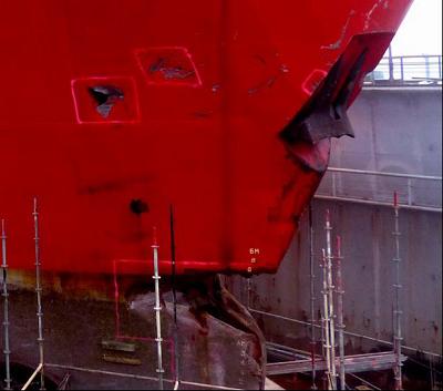 Human error caused allision in Kiel Canal