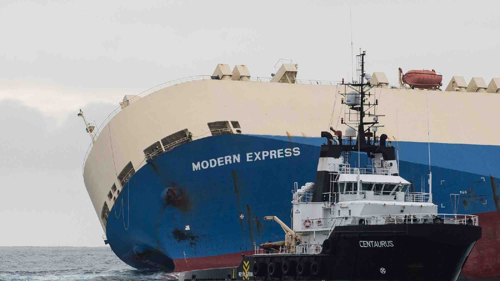 Attempt to take Modern Express in tow successful