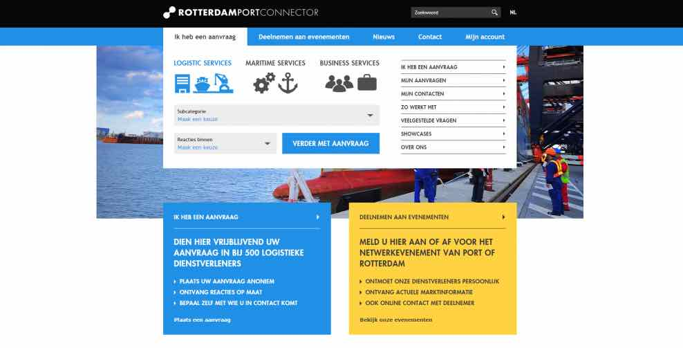 Port of Rotterdam innovative website starts to bear fruit, say creators