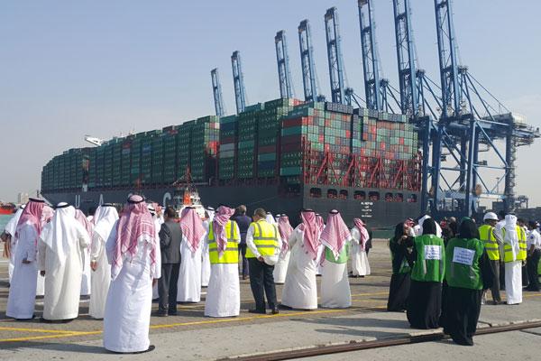 UASC's sixth 'greenest' 18,800-TEUer makes maiden call at Jeddah