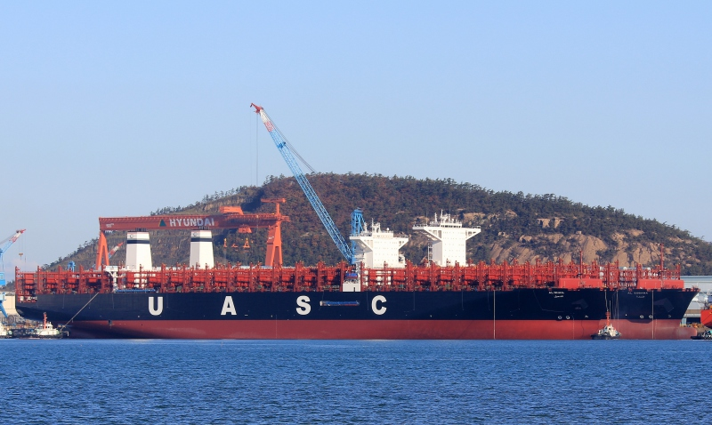 UASC takes delivery of seventh of 11 Korean-built 14,993-TEUers.
