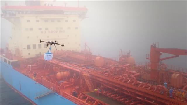 Maersk plays with drones for making deliveries to vessels, inspections