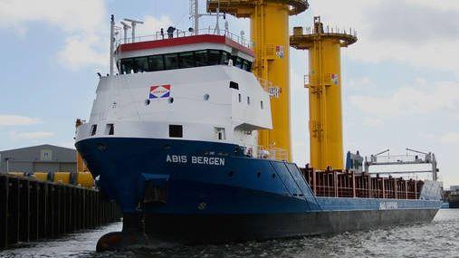 Drunk captain grounds ship Abis Bergen in German port