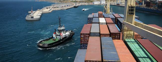 The Tanger-Med port drains passing mega ships for transshipments