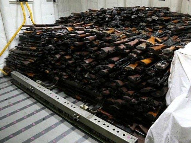 US seizes big small arms cache on dhow bound for Iran-backed Huthis