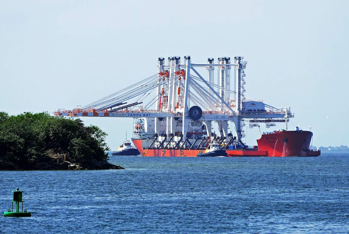 Port of Tampa Bay receives 2 new gantry cranes to handle 9,000-TEU ships