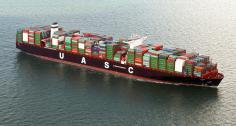 UASC's 15,000-TEU Linah calls at Gulftainer's Khorfakkan terminal