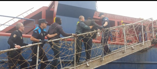 Las Palmas Police returned four stowaways to Mauritani who arrived by Turkish ship Nimet