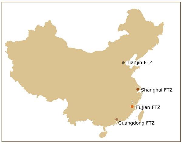China's FTZs in Tianjin, Fujian, Guangdong, Shanghai pilot reforms