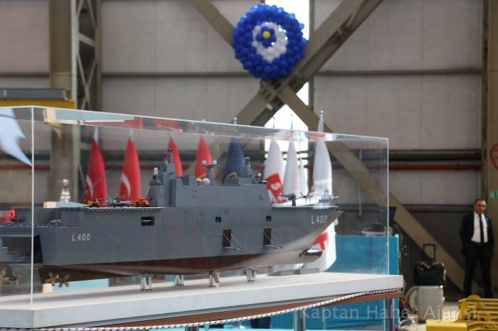 Turkey begins the building of amphibious assault ship