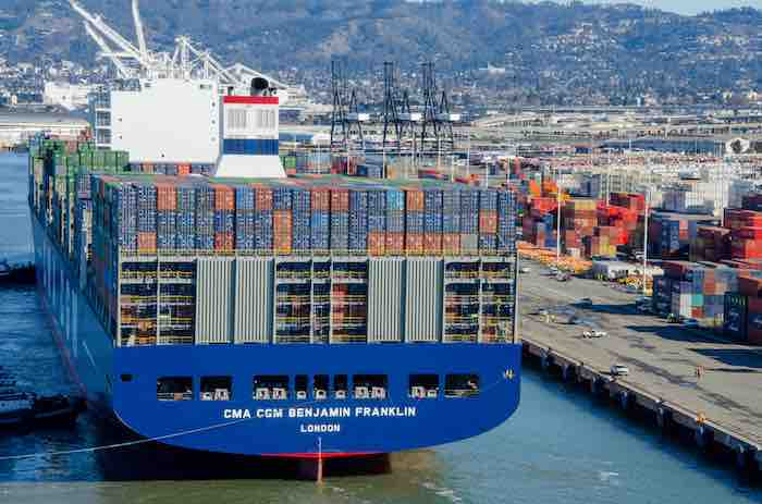 CMA CGM pulls 18,000-TEU Ben Franklin flagship from transpac service