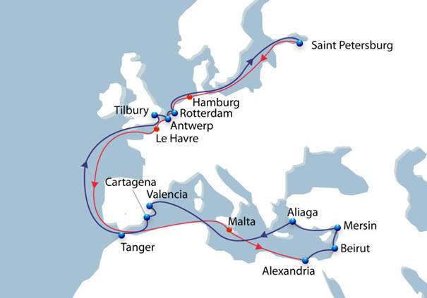 CMA CGM offer new Baltic to Levant fast service for fruit and veg