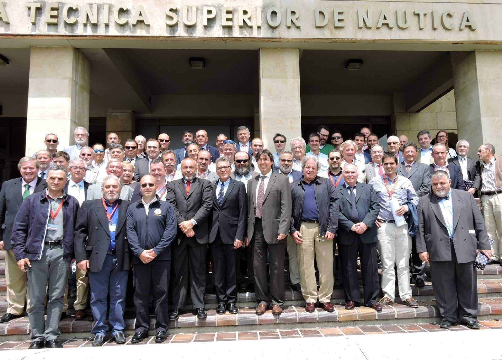 Spanish maritime pilots gathered together