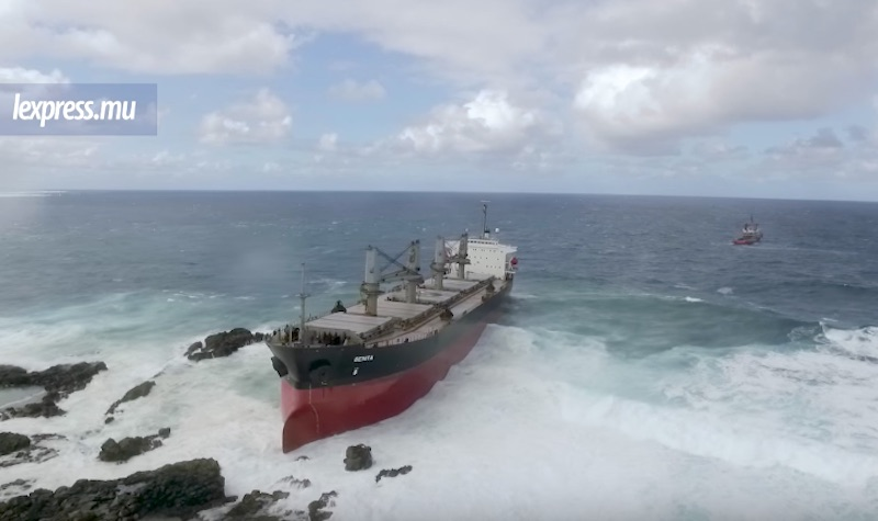Bulk Carrier Benita aground off Mauritius after fight on board