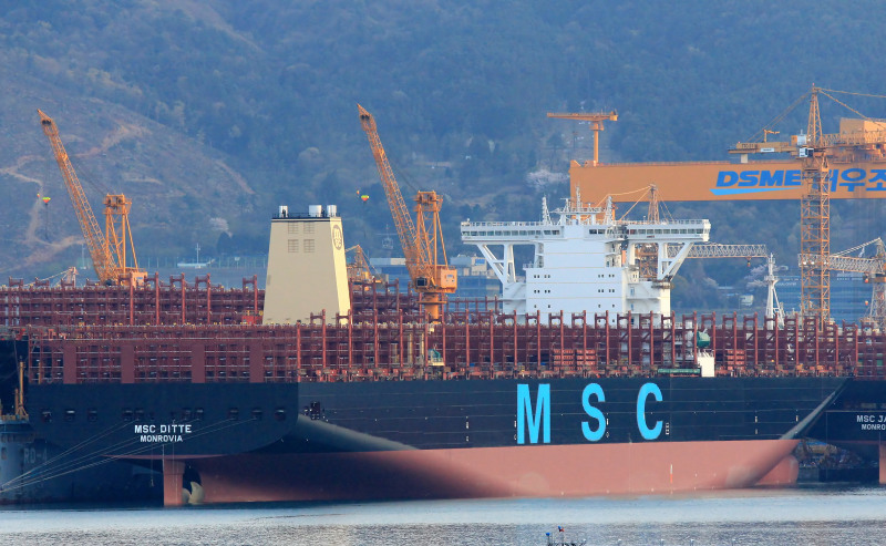 MSC receives 19,224-TEU newbuilding on long-term lease