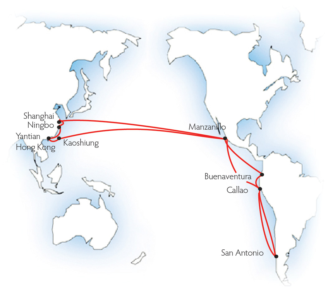 MOL ups Malaysia-Mexico/WC South America rate US$800/TEU July 18