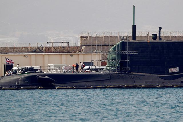 Surfacing submarine in collision with tanker off Gibraltar