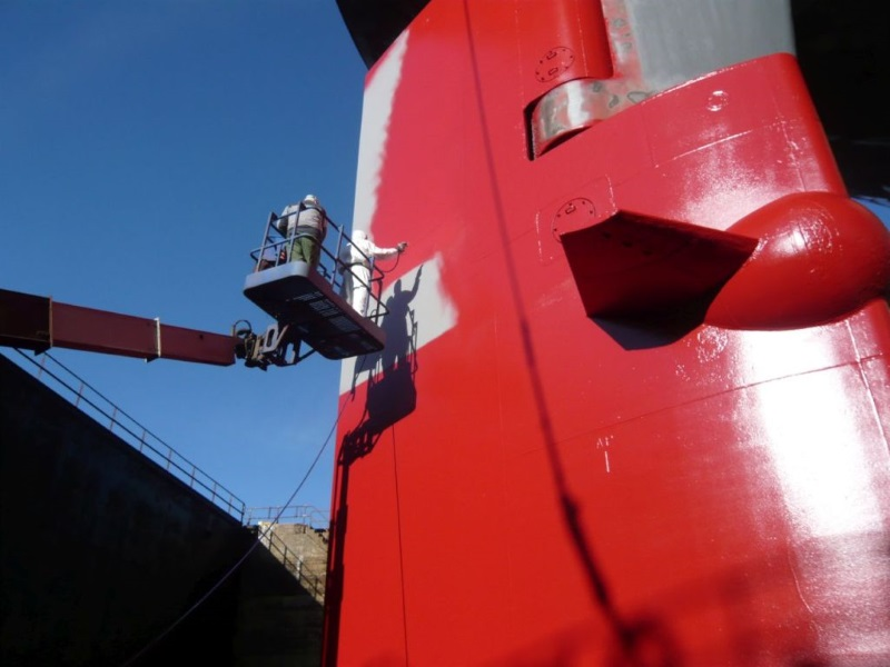 Subsea Industries' new filler coat lowers cost of rudder repair