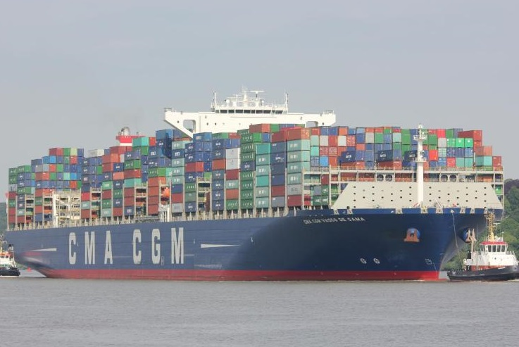 CMA CGM Vasco Da Gama grounded in Southampton