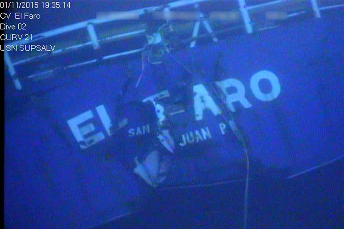 US Coast Guard blames El Faro sinking on captain, crew and owners